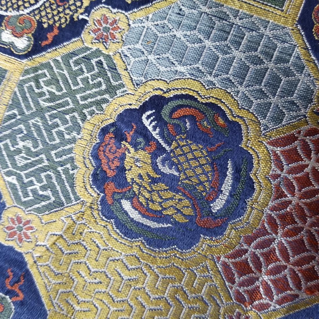 Chinese Silk Brocade Dragon Panel - 8