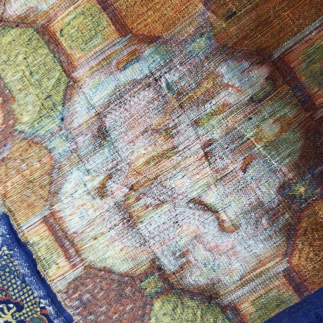 Chinese Silk Brocade Dragon Panel - 9
