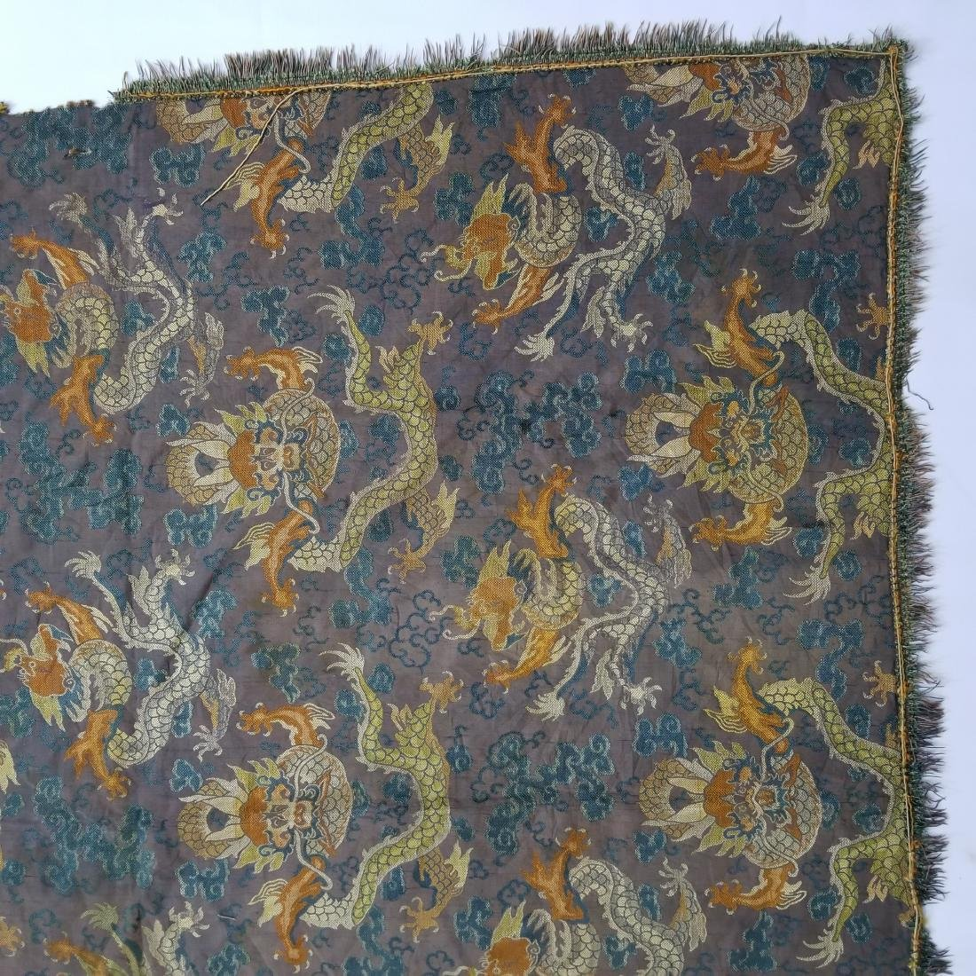 Antique Chinese Silk Brocade Dragon Panel - 6