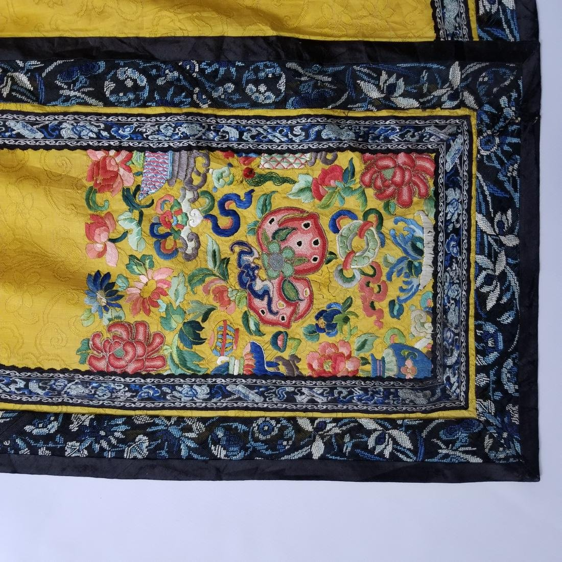Antique Chinese Silk Hand Embroidered Skirt Forbidden - 2