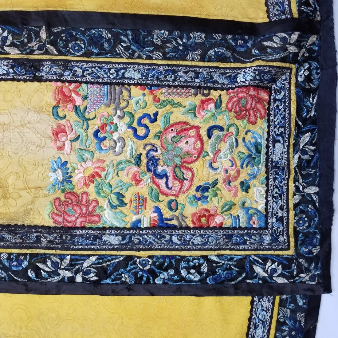 Antique Chinese Silk Hand Embroidered Skirt Forbidden - 4