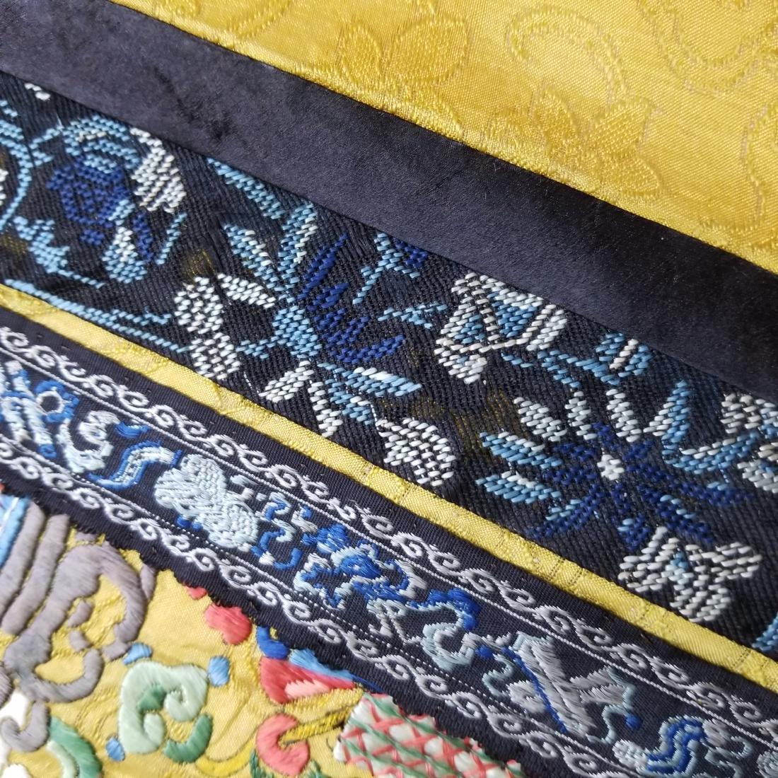 Antique Chinese Silk Hand Embroidered Skirt Forbidden - 6