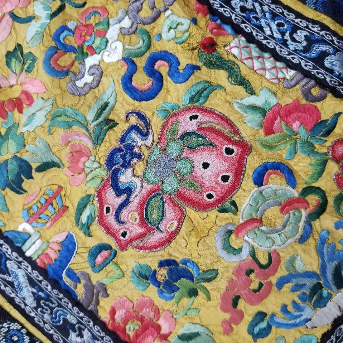Antique Chinese Silk Hand Embroidered Skirt Forbidden - 7