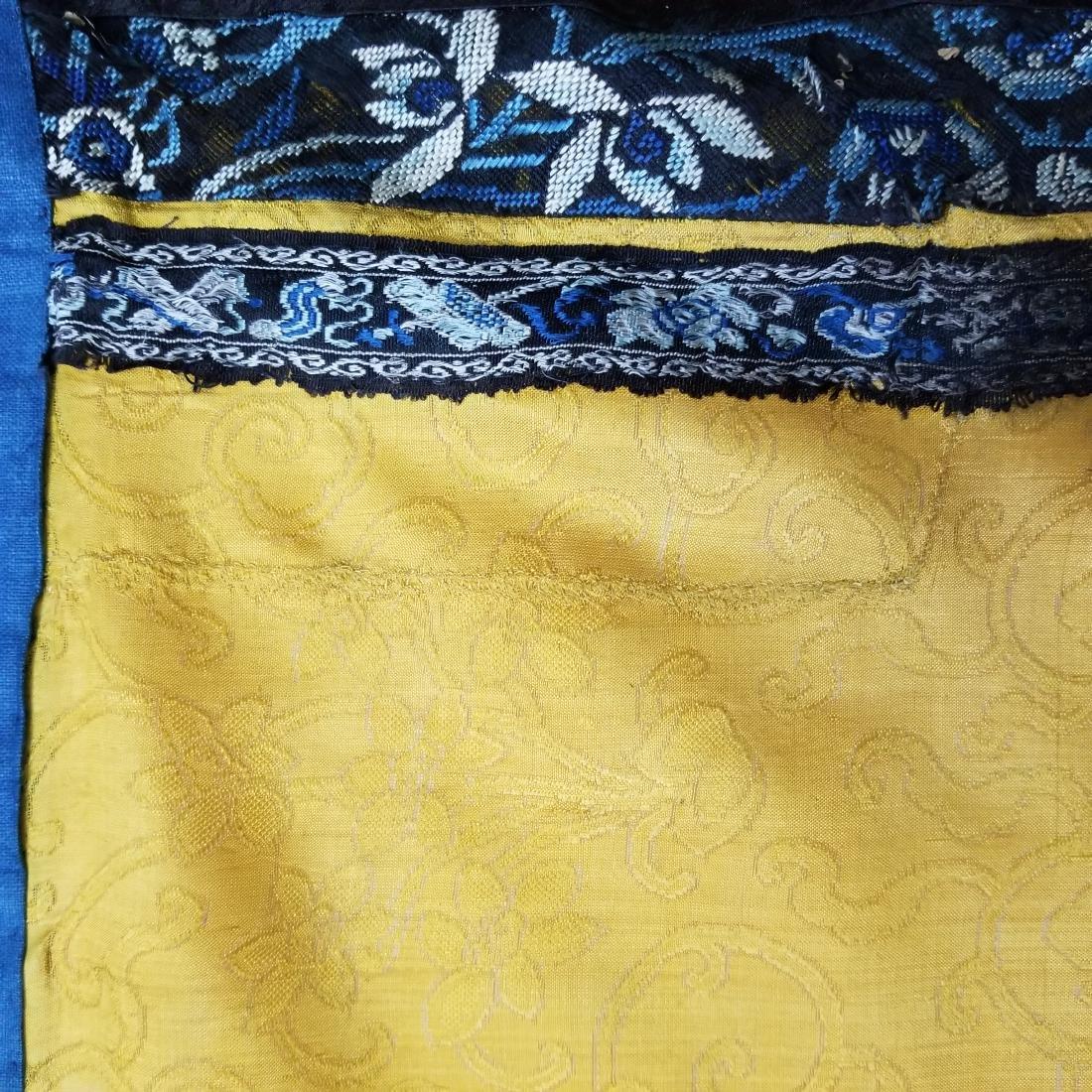 Antique Chinese Silk Hand Embroidered Skirt Forbidden - 8