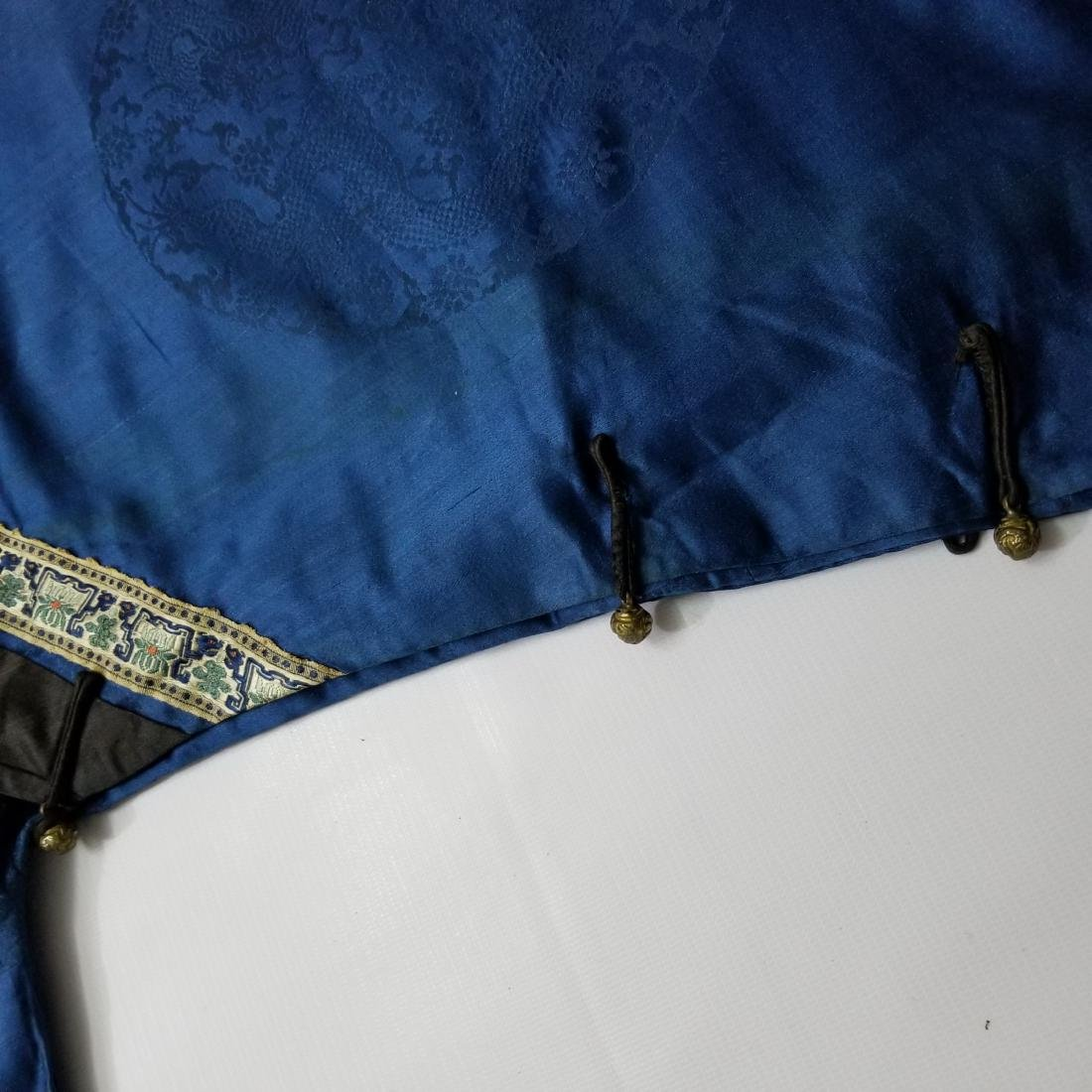 Antique Chinese Silk Robe with G T Marsh & Co. Stamp - 10