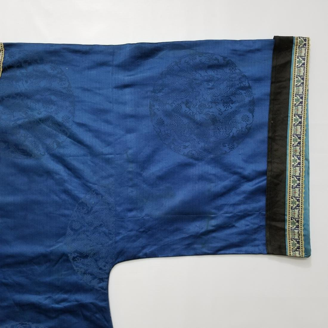 Antique Chinese Silk Robe with G T Marsh & Co. Stamp - 4