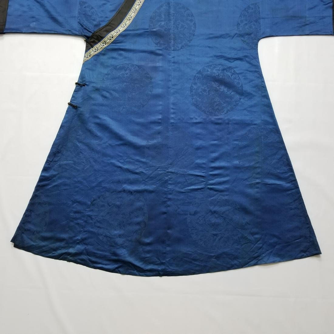 Antique Chinese Silk Robe with G T Marsh & Co. Stamp - 7