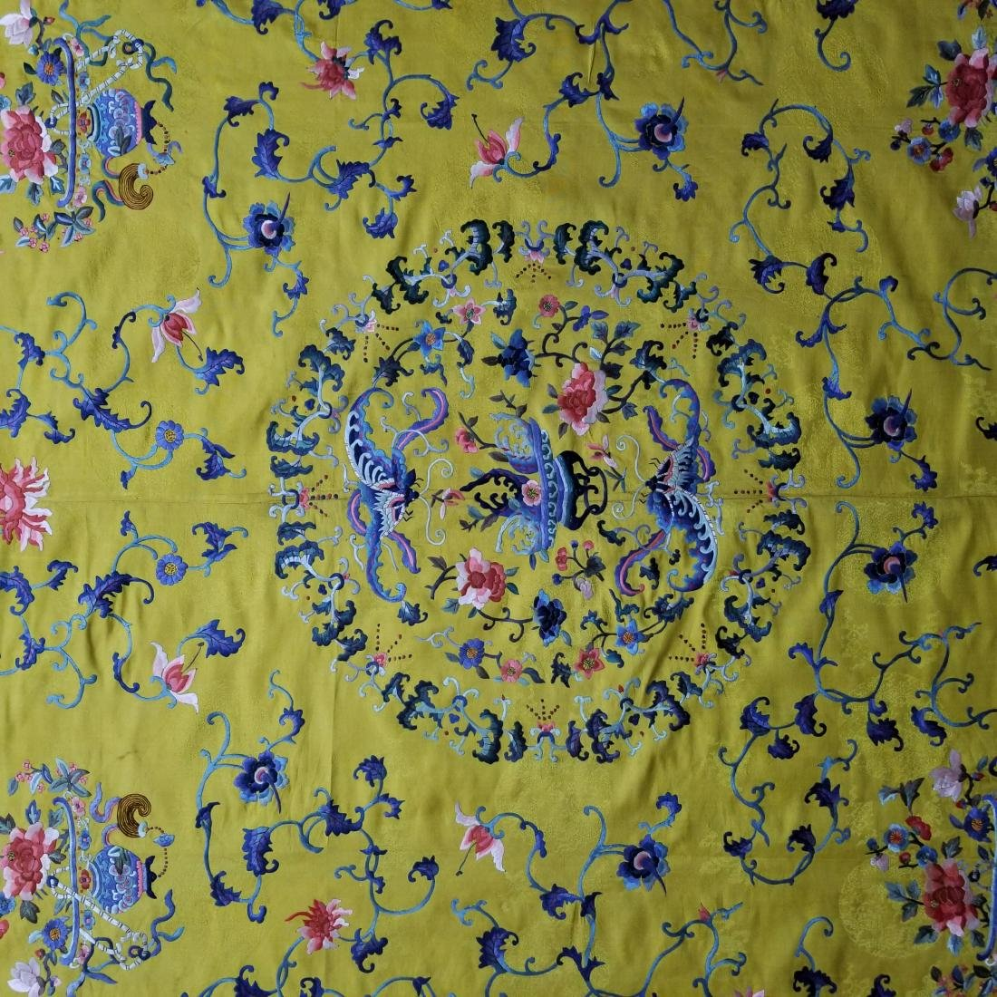 Antique Chinese Silk Hand Embroidered Panel - 3