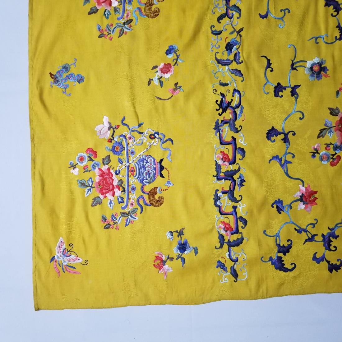 Antique Chinese Silk Hand Embroidered Panel - 4
