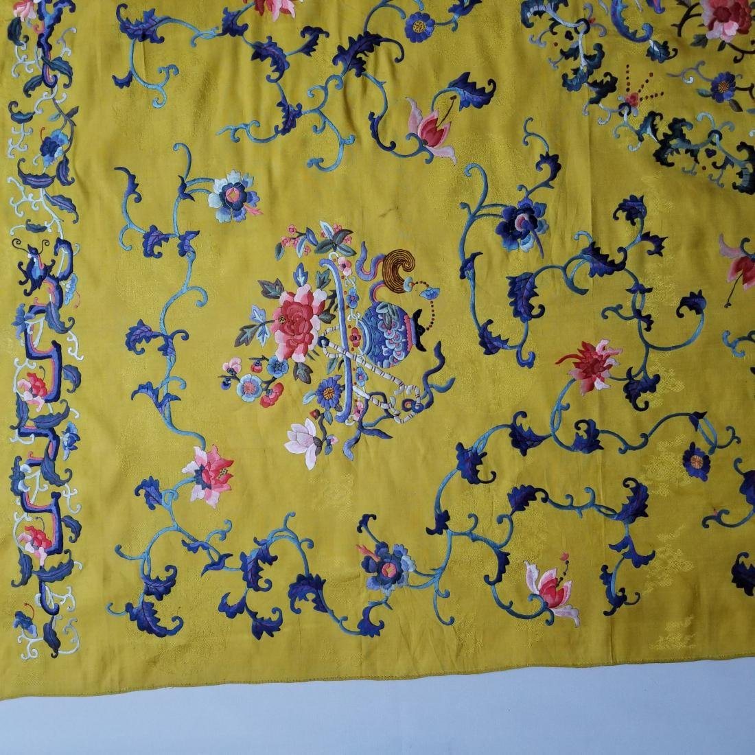 Antique Chinese Silk Hand Embroidered Panel - 5