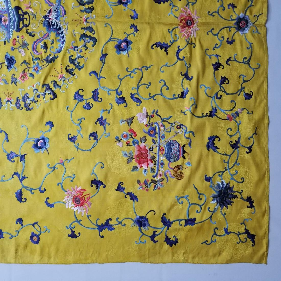 Antique Chinese Silk Hand Embroidered Panel - 6