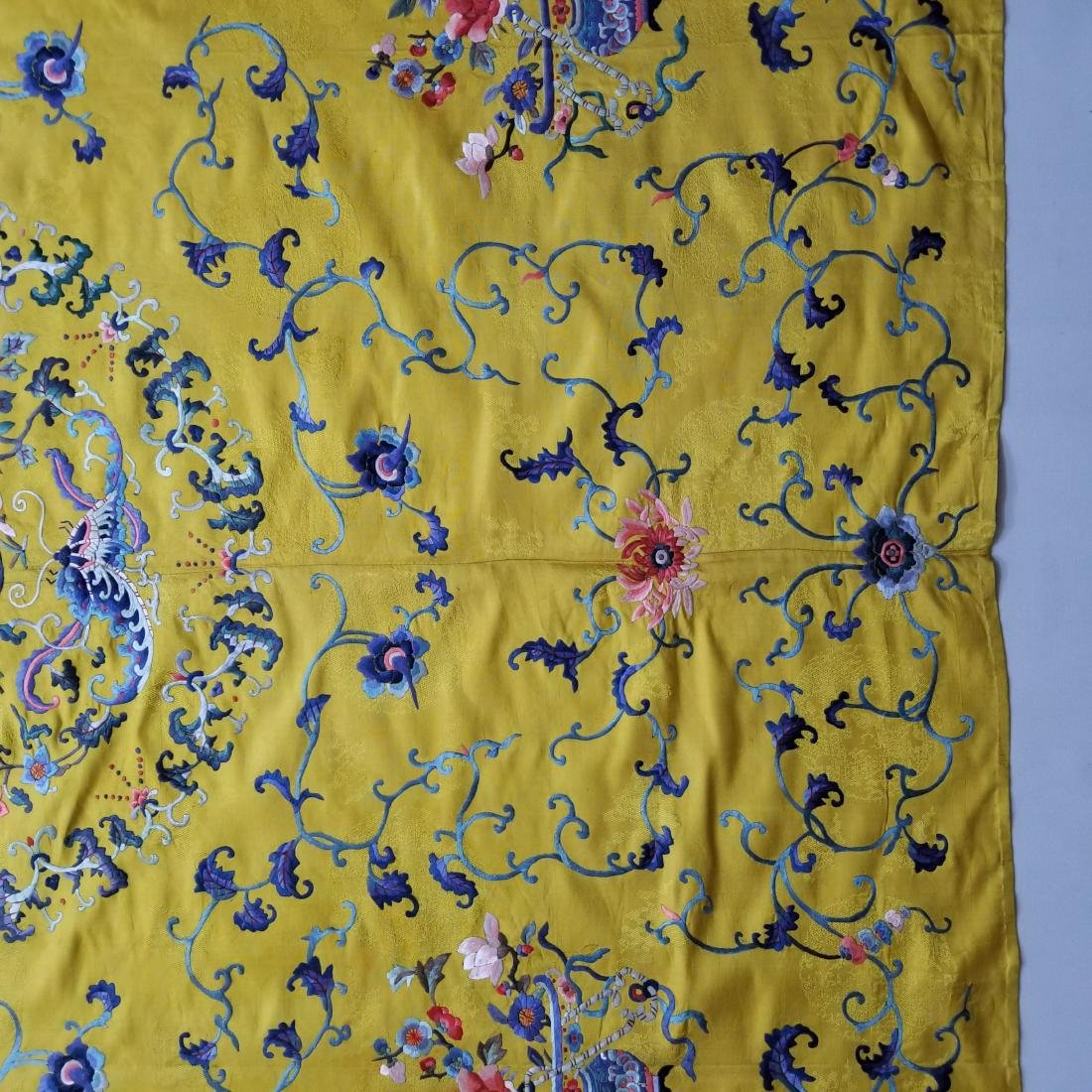 Antique Chinese Silk Hand Embroidered Panel - 7