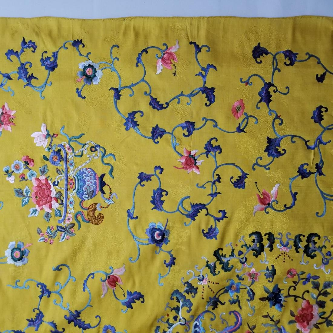 Antique Chinese Silk Hand Embroidered Panel - 9