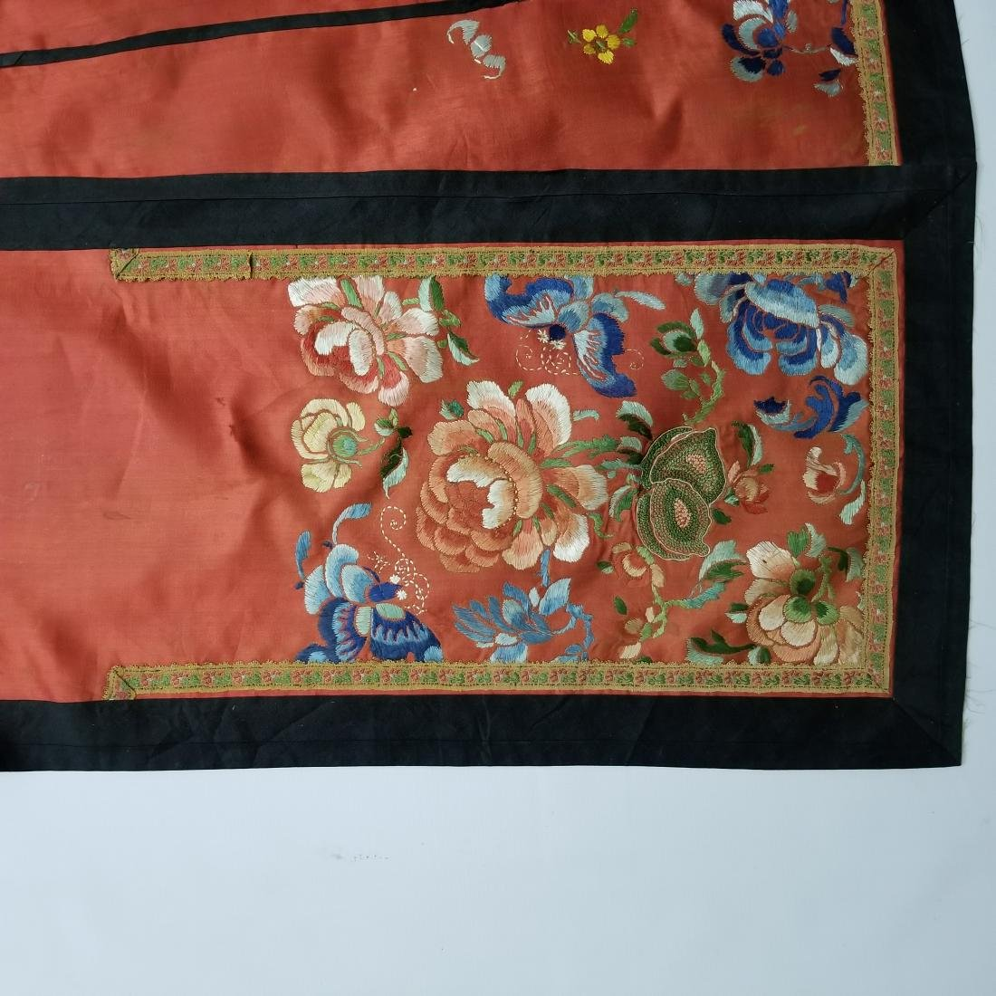 Antique Chinese Silk Hand Embroidered Skirt - 2