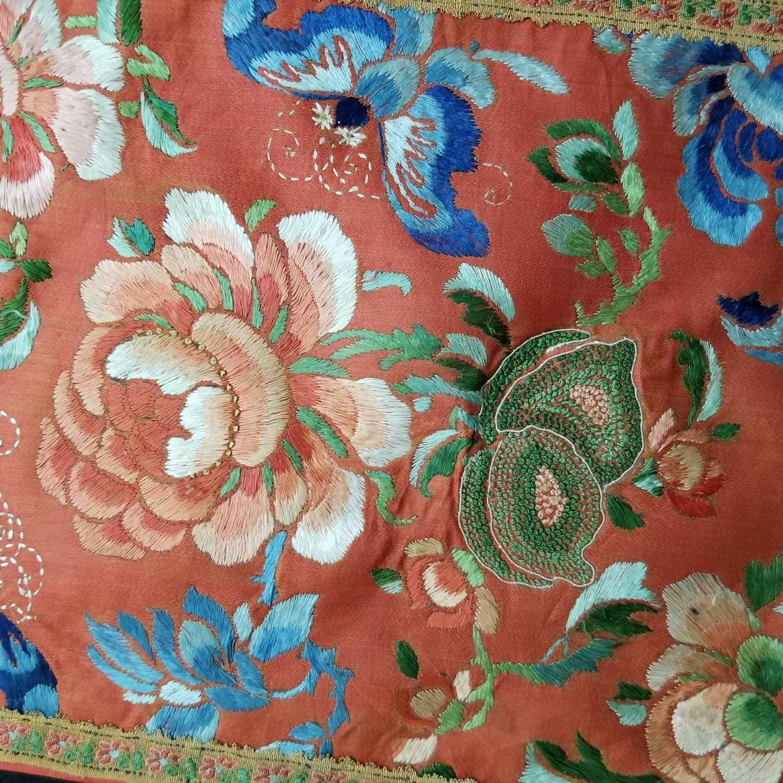 Antique Chinese Silk Hand Embroidered Skirt - 3