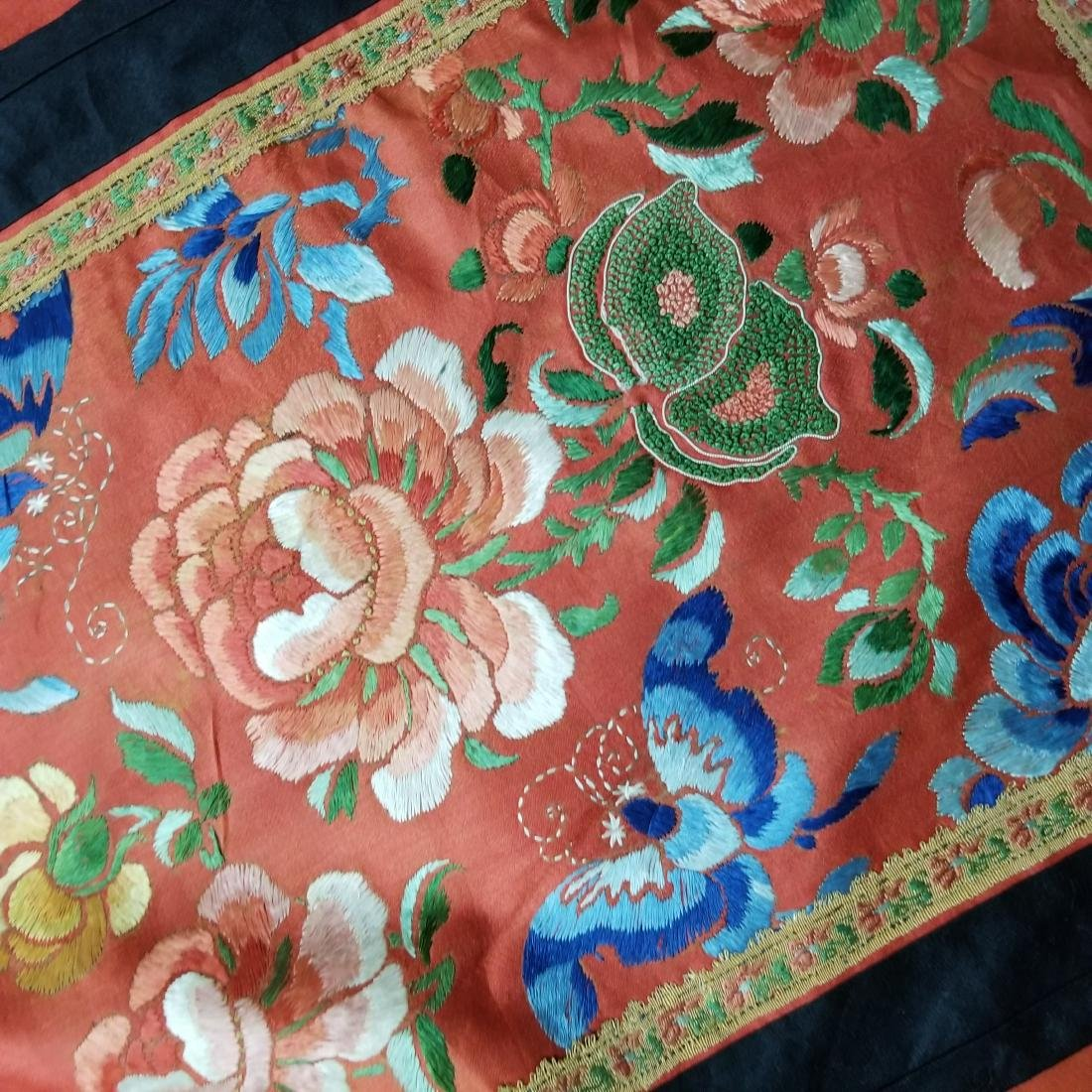 Antique Chinese Silk Hand Embroidered Skirt - 6