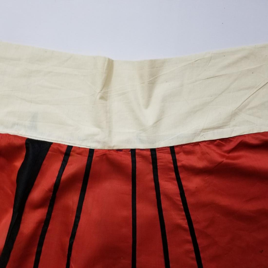 Antique Chinese Silk Hand Embroidered Skirt - 8