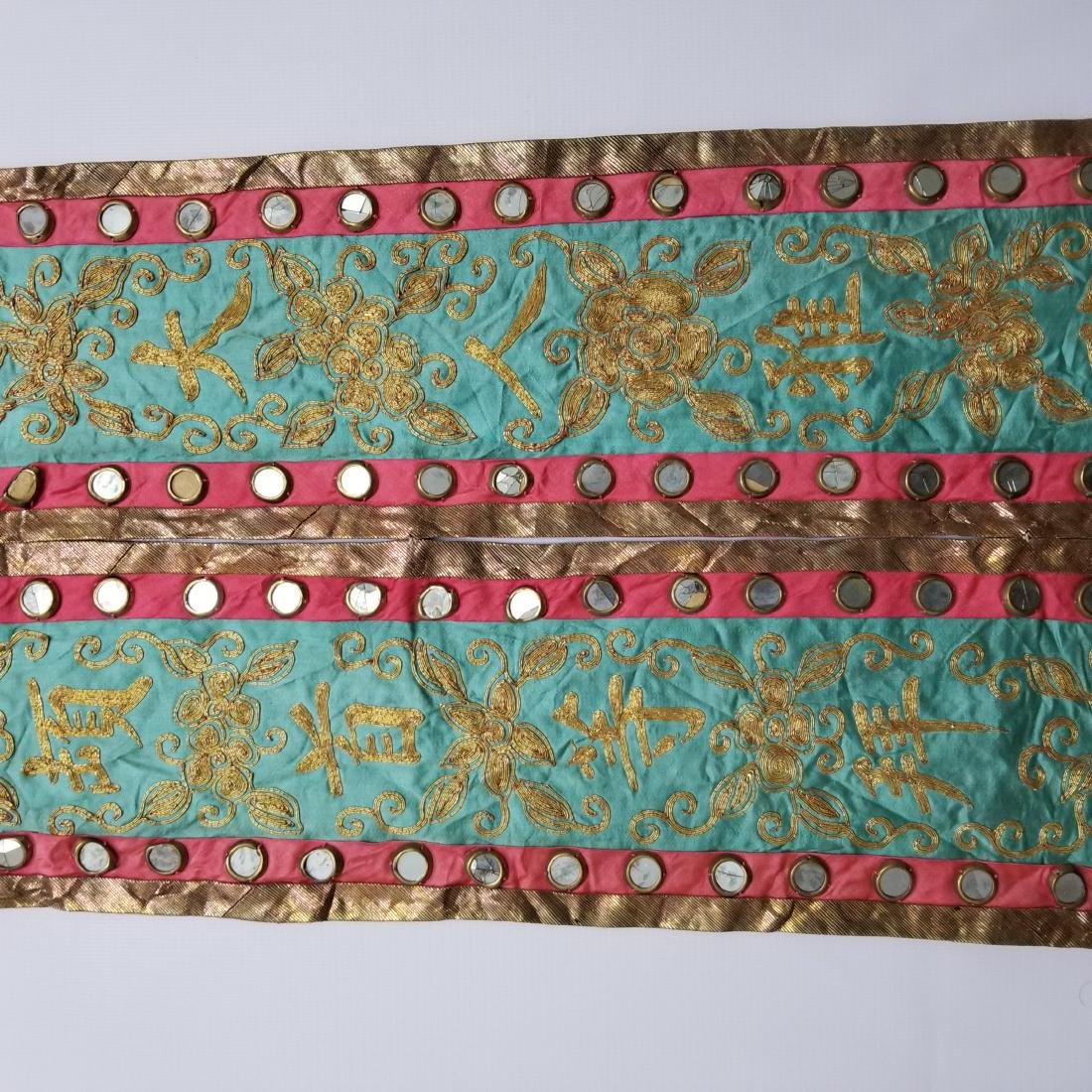 Pair of Antique Chinese Embroidered Panels - 4
