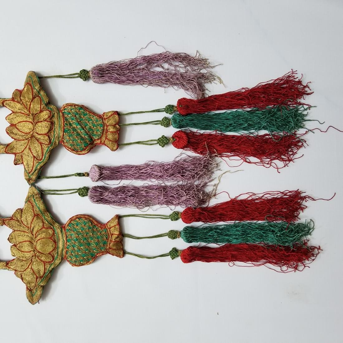 Pair of Antique Chinese Embroidered Panels - 6