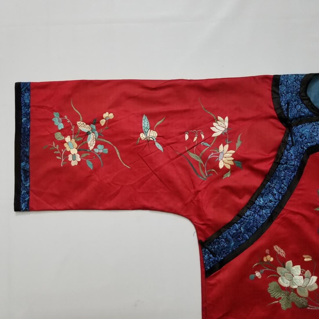 Antique Chinese Silk Hand Embroidered Silk Robe - 3