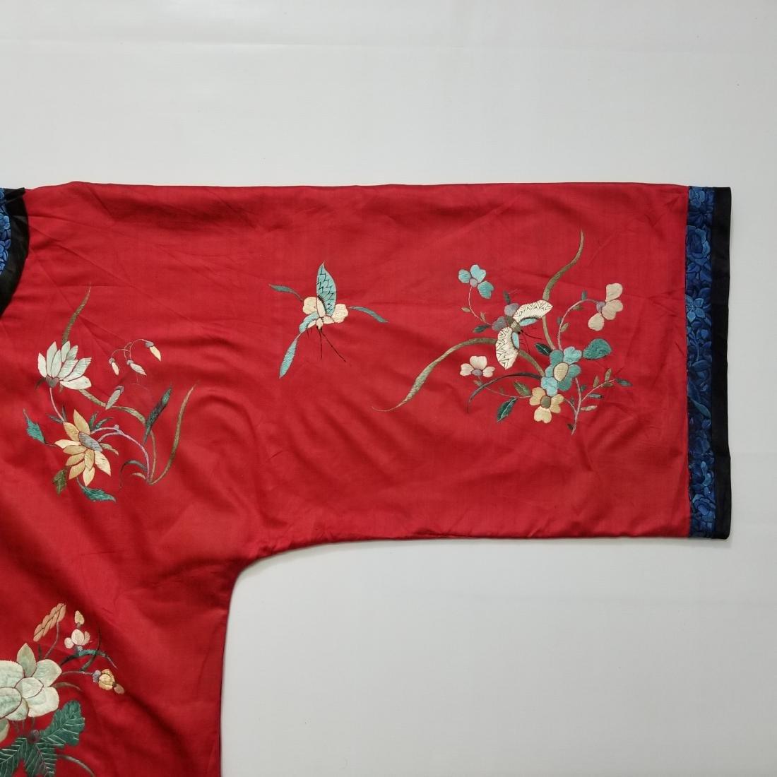 Antique Chinese Silk Hand Embroidered Silk Robe - 4