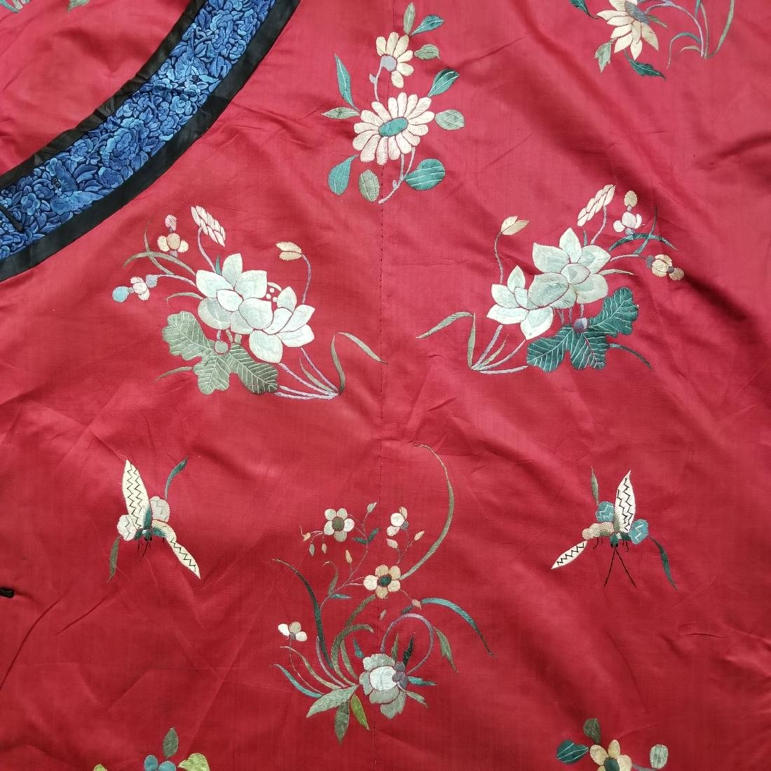 Antique Chinese Silk Hand Embroidered Silk Robe - 7