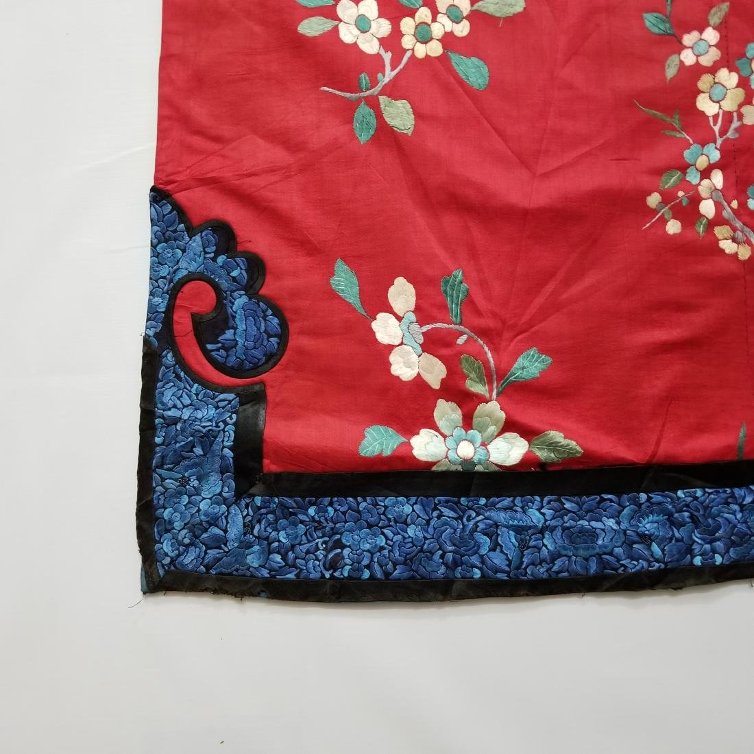 Antique Chinese Silk Hand Embroidered Silk Robe - 9