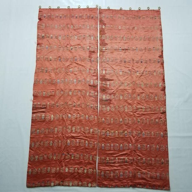Pair of Antique Chinese/Tibetan Brocade Curtains