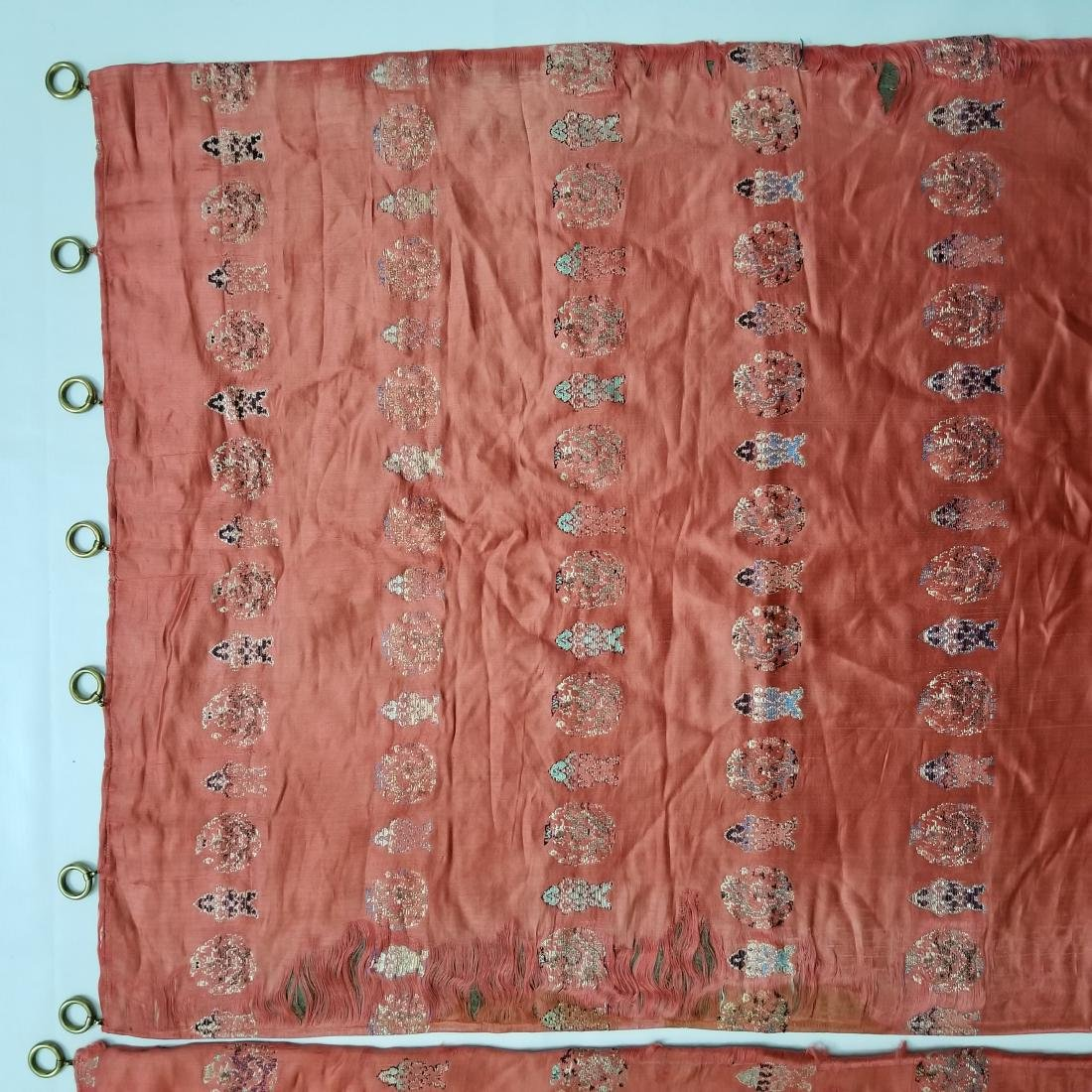 Pair of Antique Chinese/Tibetan Brocade Curtains - 2