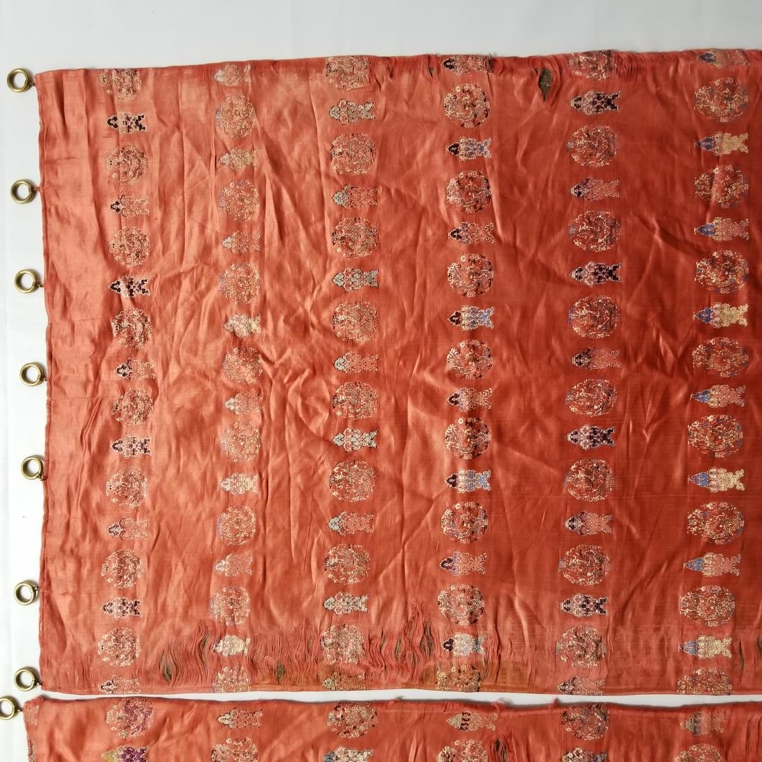 Pair of Antique Chinese/Tibetan Brocade Curtains - 3
