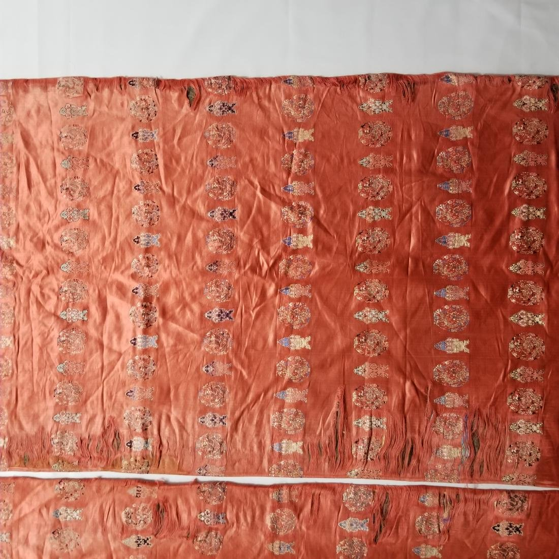Pair of Antique Chinese/Tibetan Brocade Curtains - 4