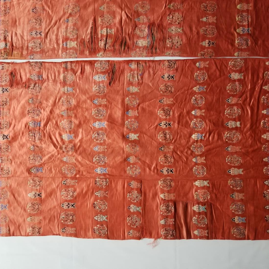 Pair of Antique Chinese/Tibetan Brocade Curtains - 7