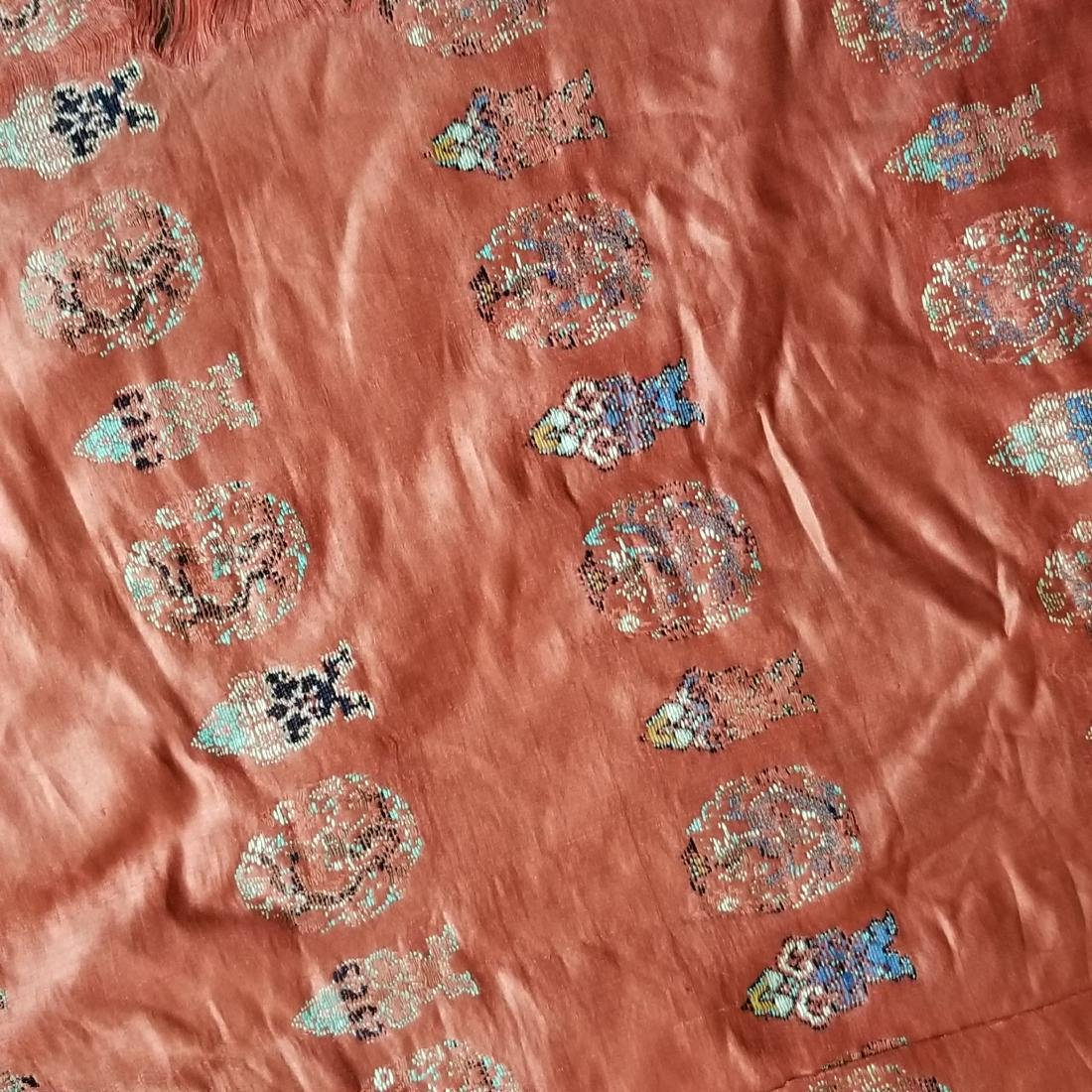 Pair of Antique Chinese/Tibetan Brocade Curtains - 9