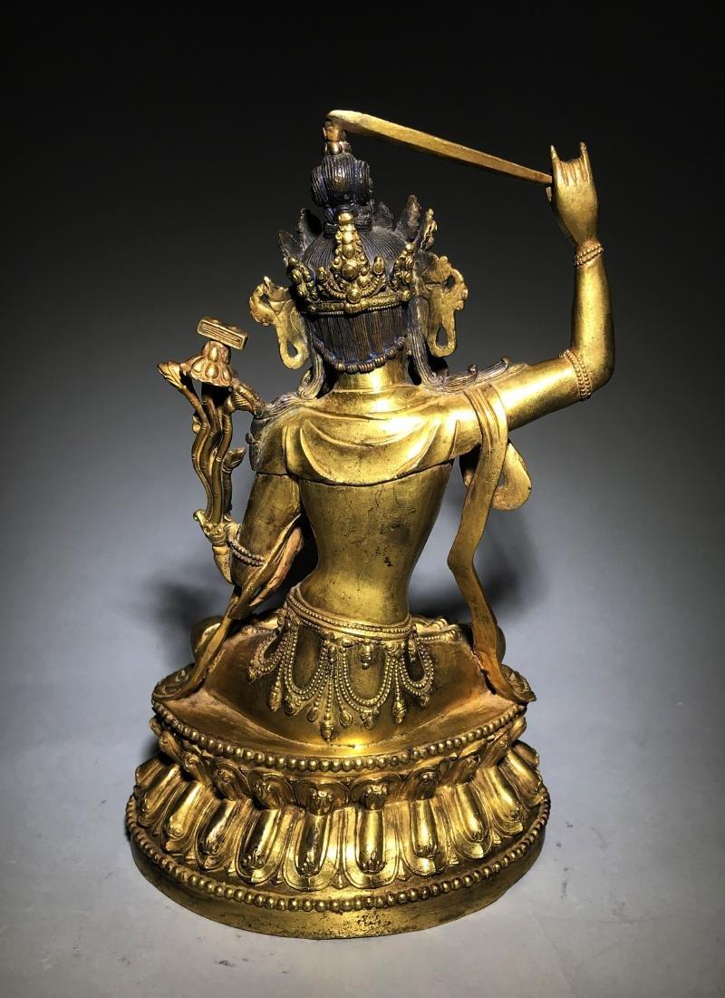 Ming Yongle Marked Gilt-Bronze Figure of Buddha - 5