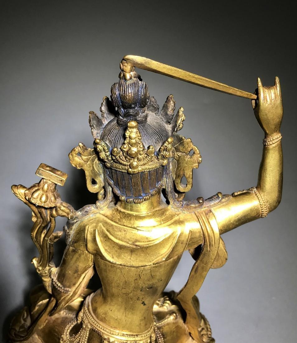 Ming Yongle Marked Gilt-Bronze Figure of Buddha - 6