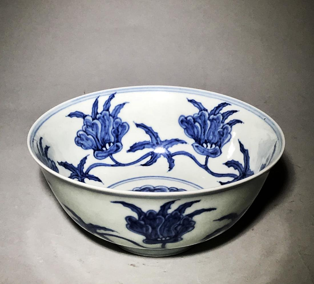 Chenghua Marked Blue And White 'Flower' Bowl