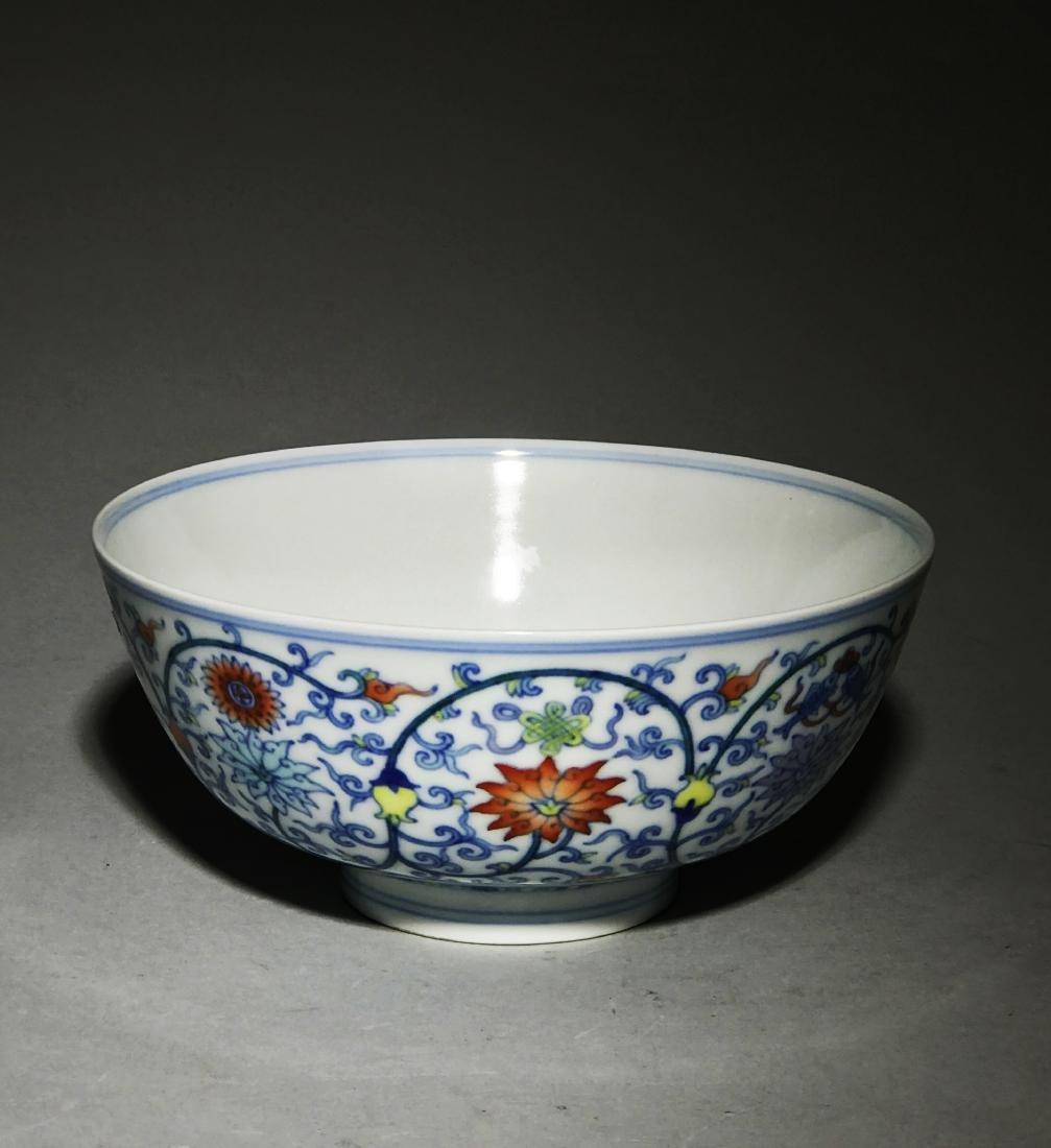 Marked Yongzheng Doucai Bowl
