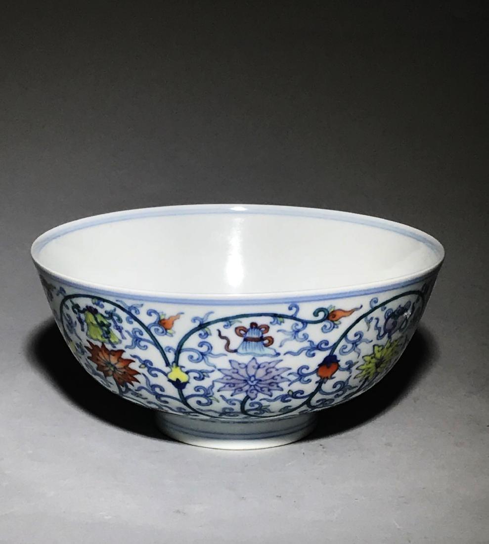 Marked Yongzheng Doucai Bowl - 2
