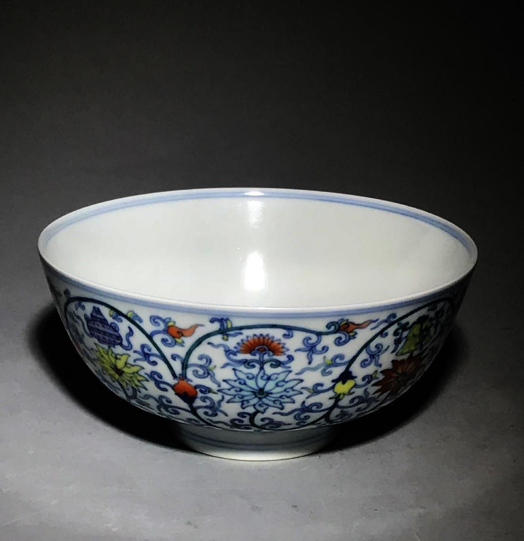 Marked Yongzheng Doucai Bowl - 3