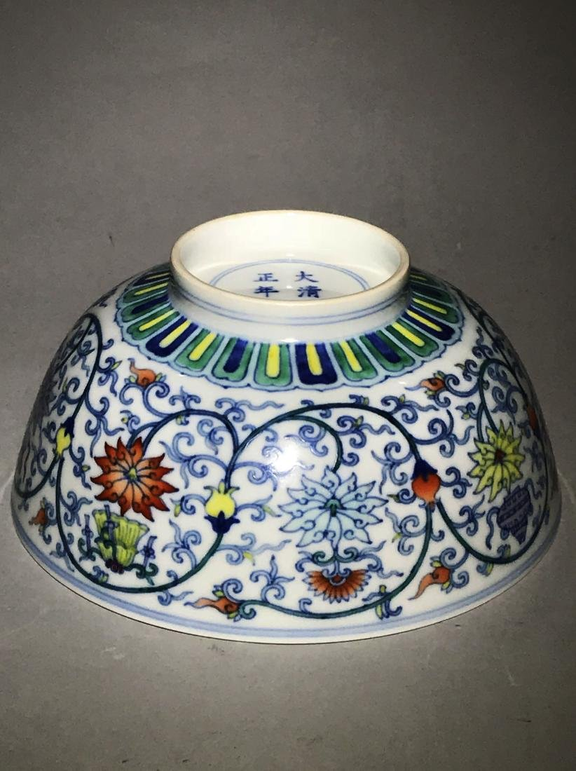 Marked Yongzheng Doucai Bowl - 4