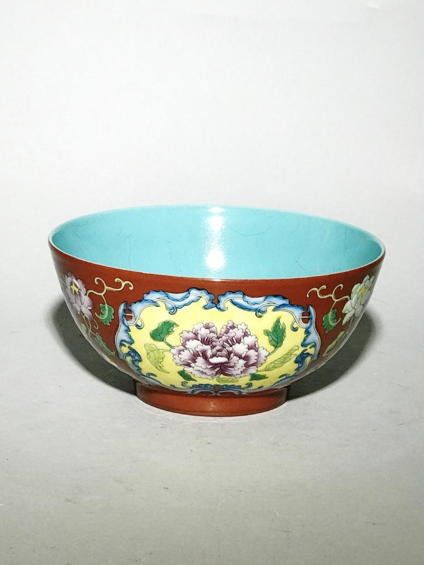 Marked Qianlong Yangcai 'Flower' Bowl