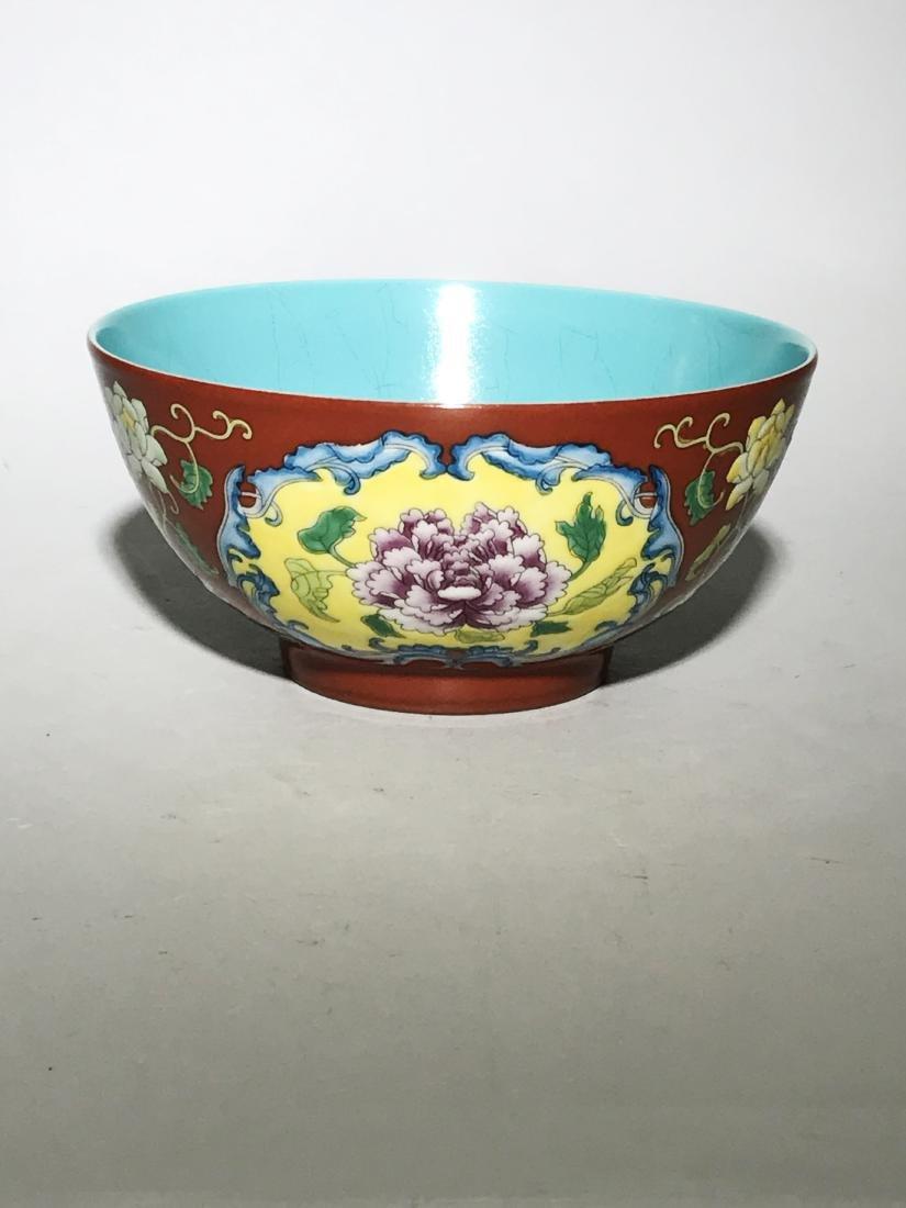 Marked Qianlong Yangcai 'Flower' Bowl - 2
