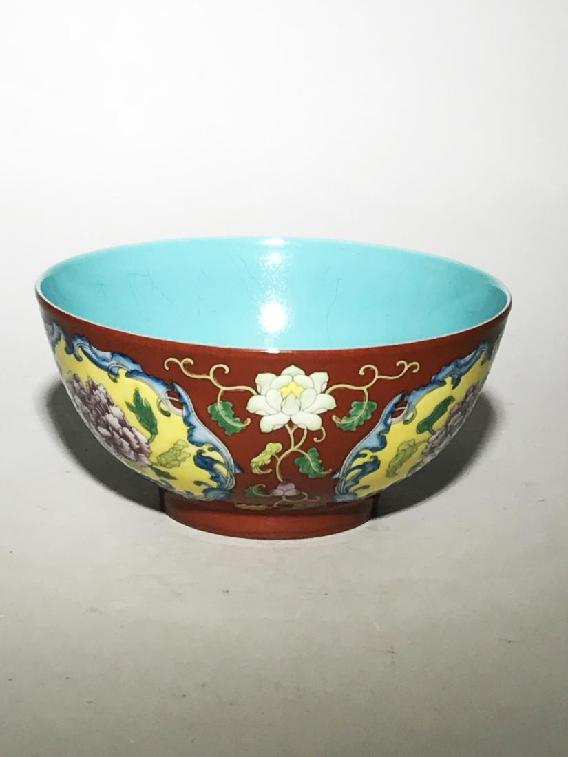 Marked Qianlong Yangcai 'Flower' Bowl - 3