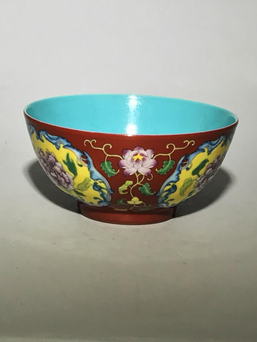 Marked Qianlong Yangcai 'Flower' Bowl - 4
