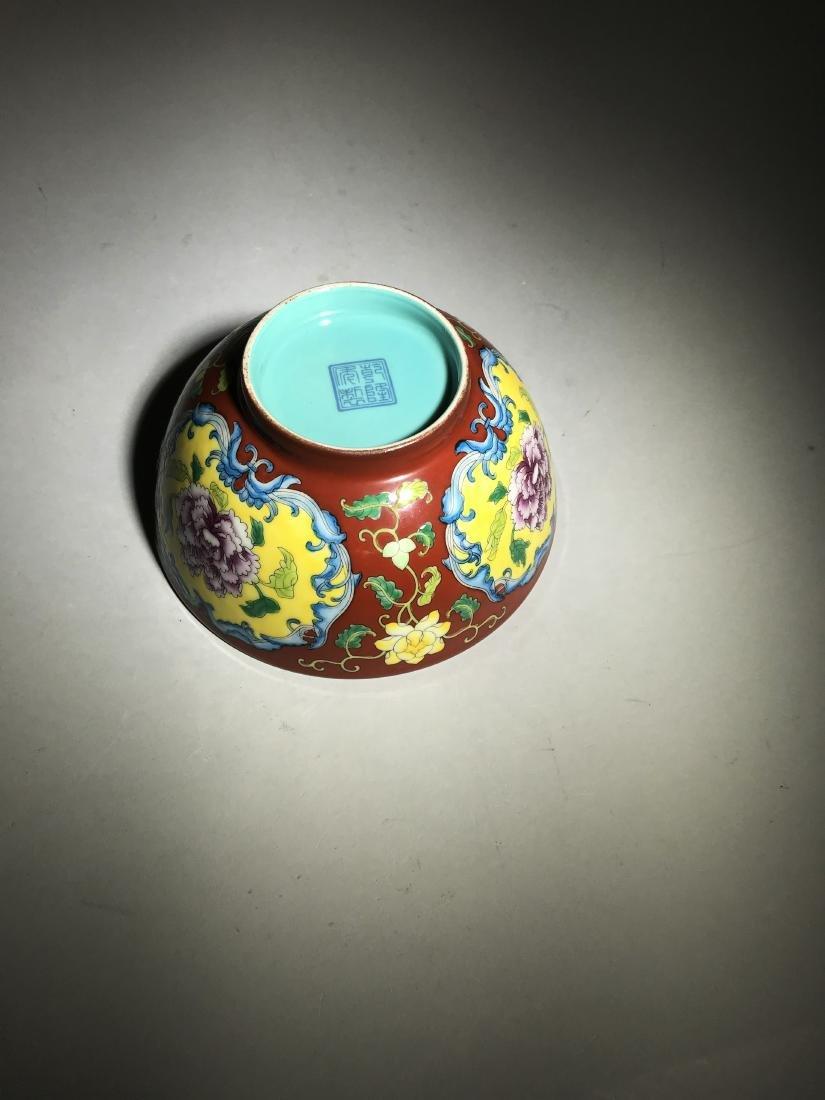 Marked Qianlong Yangcai 'Flower' Bowl - 5