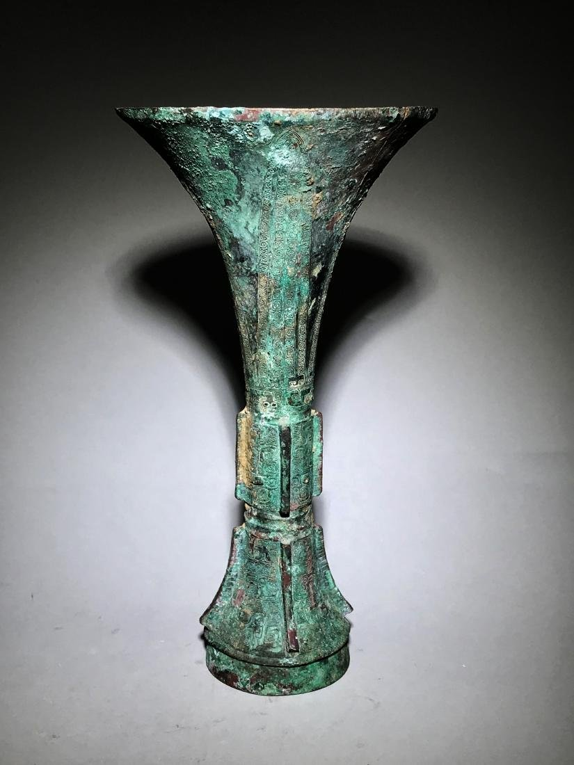 A Bronze Ritual Wine Vessel,  Gu