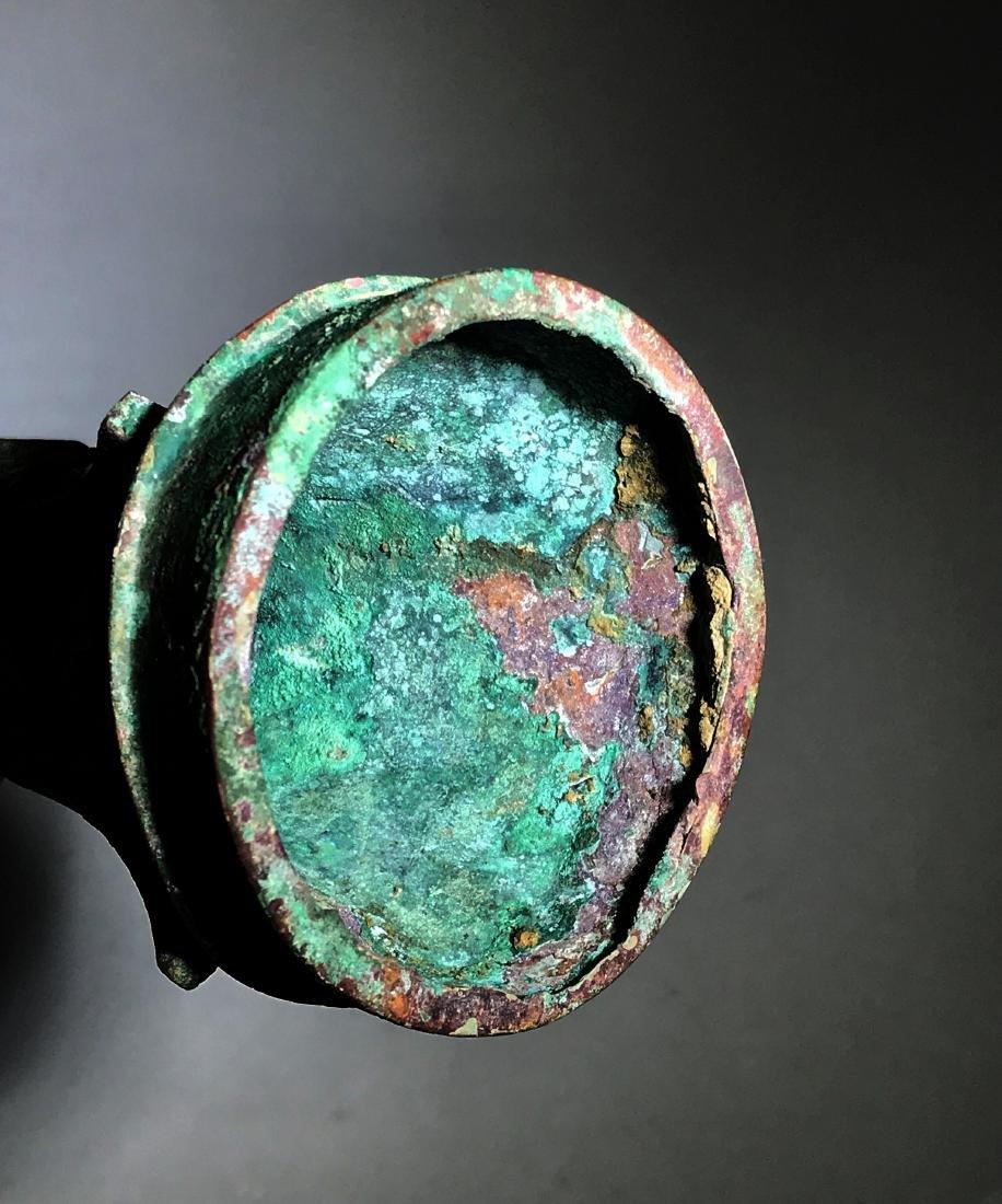 A Bronze Ritual Wine Vessel,  Gu - 6