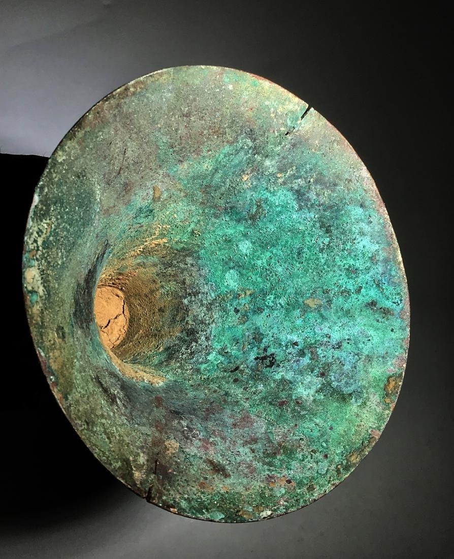 A Bronze Ritual Wine Vessel,  Gu - 7
