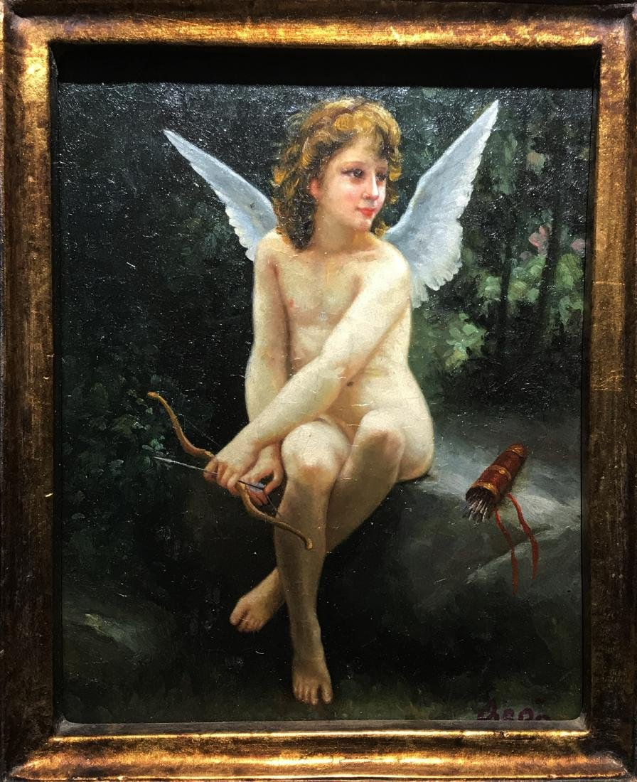 A Signed Western Painting 'Angel' - 2