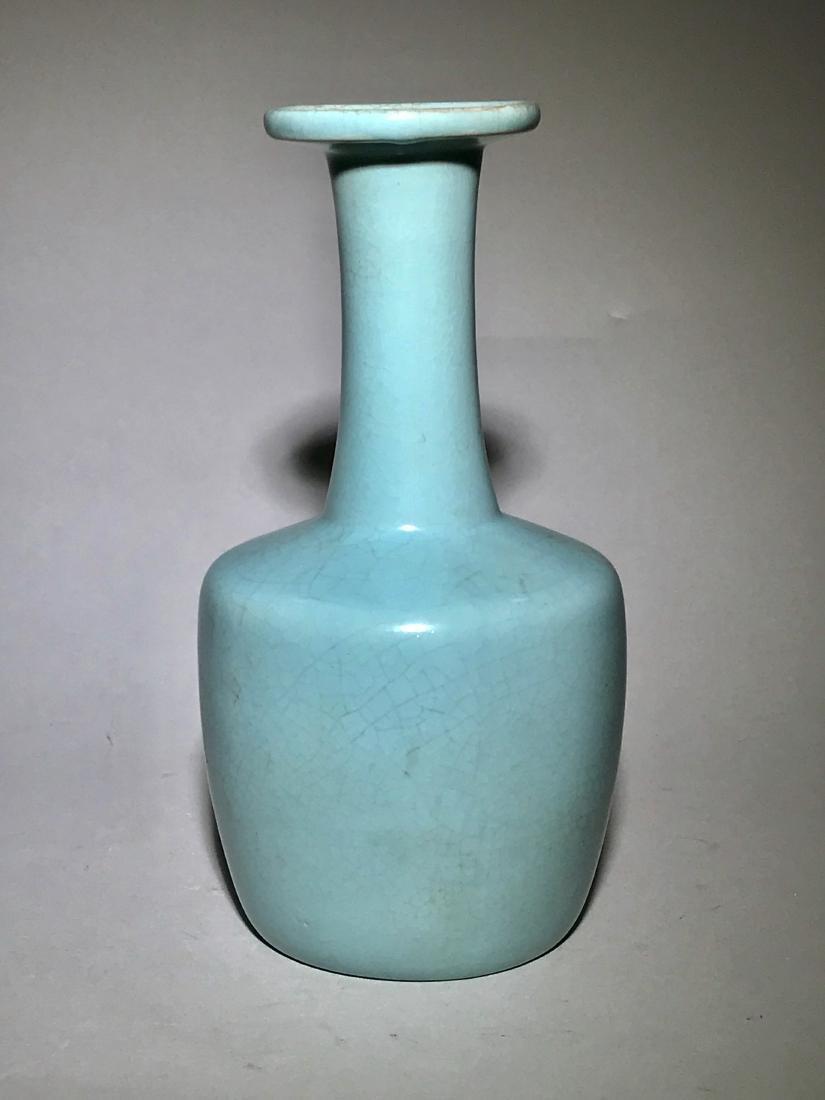 Ru-Type Sky-Blue-Glazed Bottle Vase